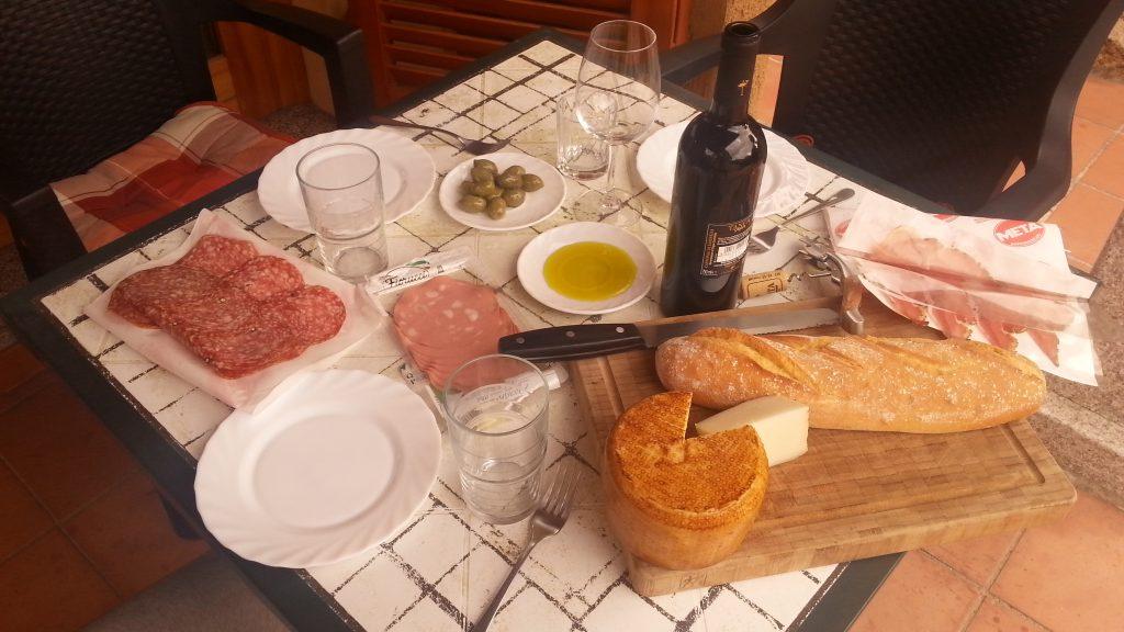 Abendbrot auf Sardinien